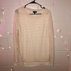Cream Sweater Blouse
